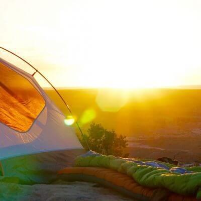 lona para acampamento